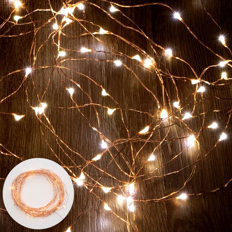 LEDワイヤーガーランド ブロンズ 1.9m