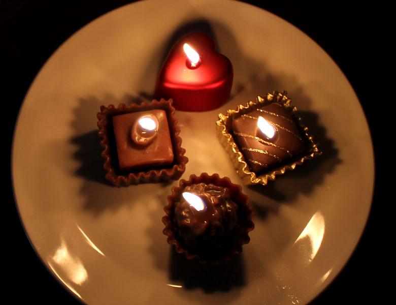 キャンドル ろうそく フローティング バレンタイン チョコレート