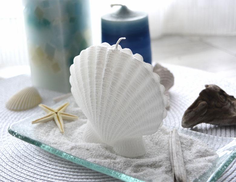 キャンドル ろうそく シェル 貝殻 オブジェ 置物 インテリア置物 リゾート ギフト プレゼント 贈り物