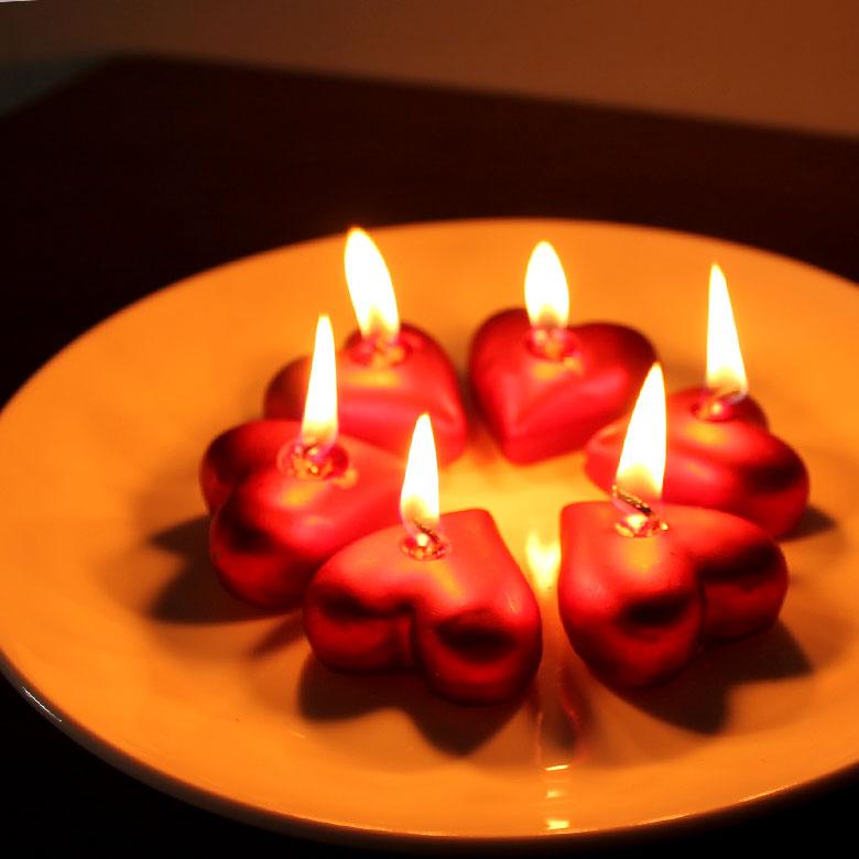 キャンドル ろうそく フローティング バレンタイン