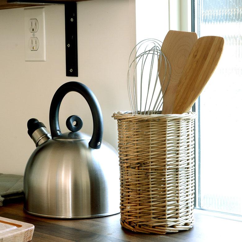 カトラリースタンド 収納ケース 収納スタンド 筒型 柳 ウィロー キッチン雑貨 卓上 おしゃれ