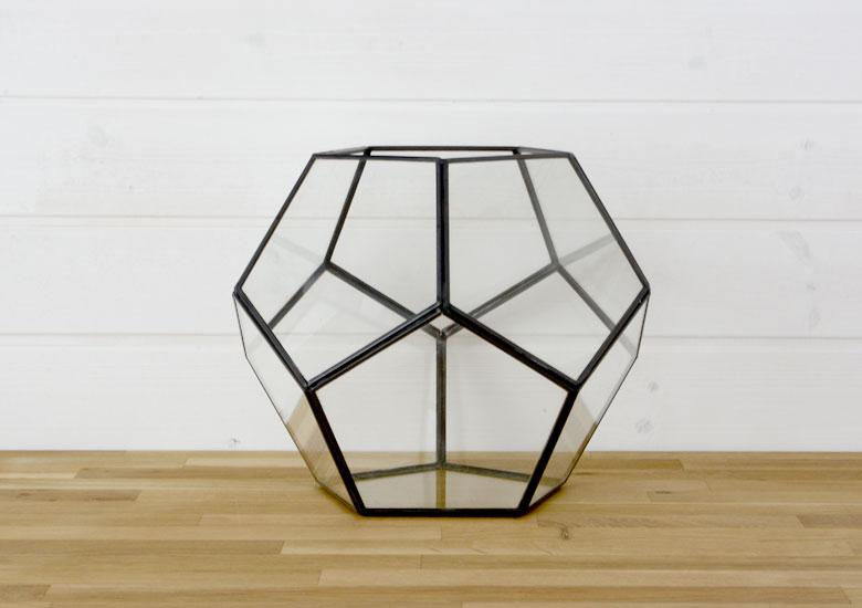 テラリウム ガラスボックス ガラスケース キャンドルホルダー 容器 多面体 12面体 ディスプレイケース 小物入れ 小物収納