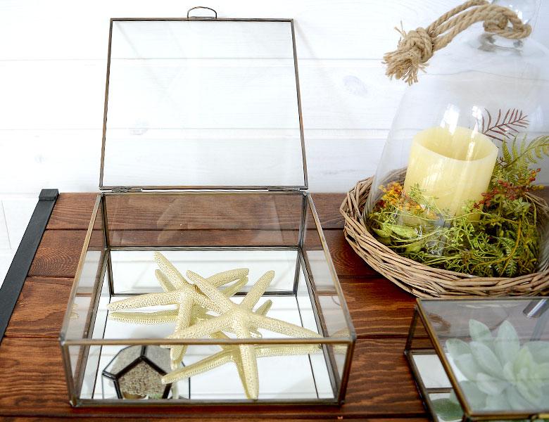 ガラスボックス ガラスケース テラリウム 容器 四角 ディスプレイケース 小物入れ 小物収納