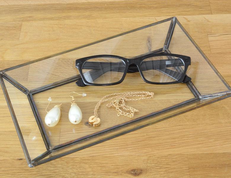 ガラス トレイ ガラストレー ガラストレイ キャッシュトレイ コイントレイ ディスプレイ 小物入れ 小物収納