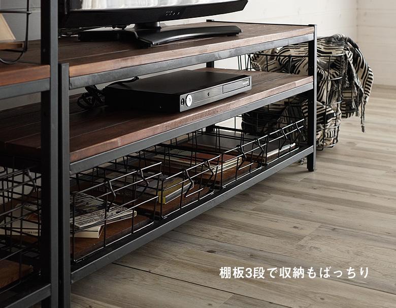 棚板3段で収納もばっちり
