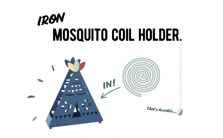 ティピーデザインの蚊取り線香入れ