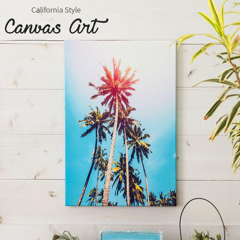 カリフォルニアの空とヤシの木