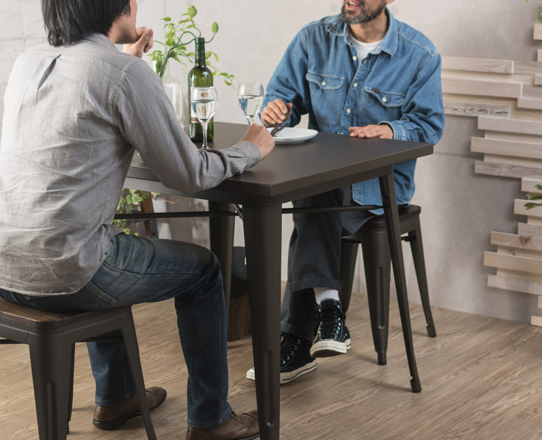 男性2人で使ってもゆったりとしたスペース