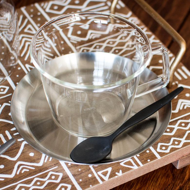 コーヒーカップ&ソーサ—セット[ステンレスタイプ]