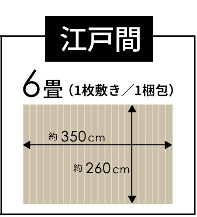 江戸間6畳 1枚敷き 1梱包