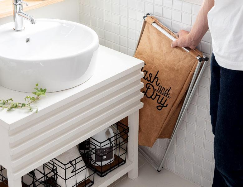 スペースの少ない洗面所に嬉しいサイズ