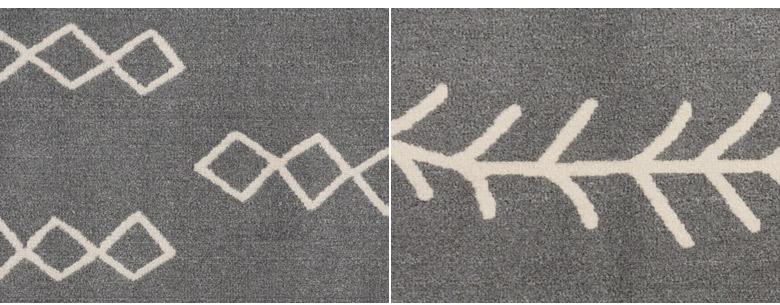 象形文字のようなレトロなデザイン。