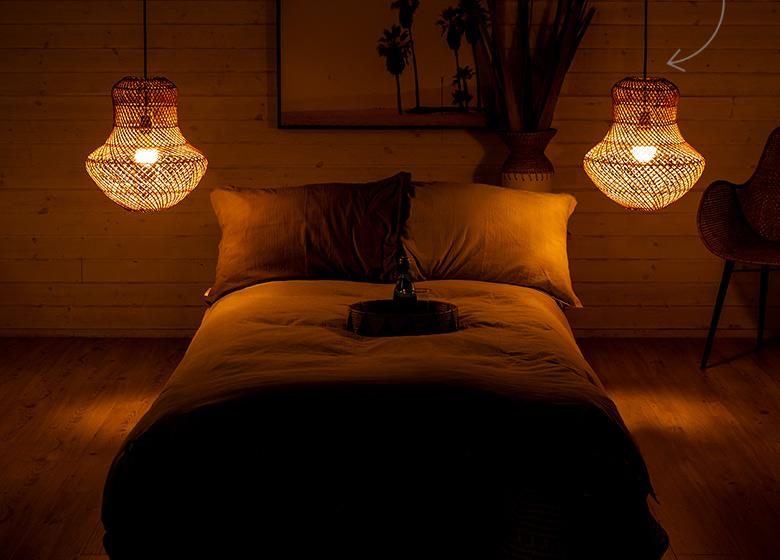 陰影が美しいランプシェード、ラブ