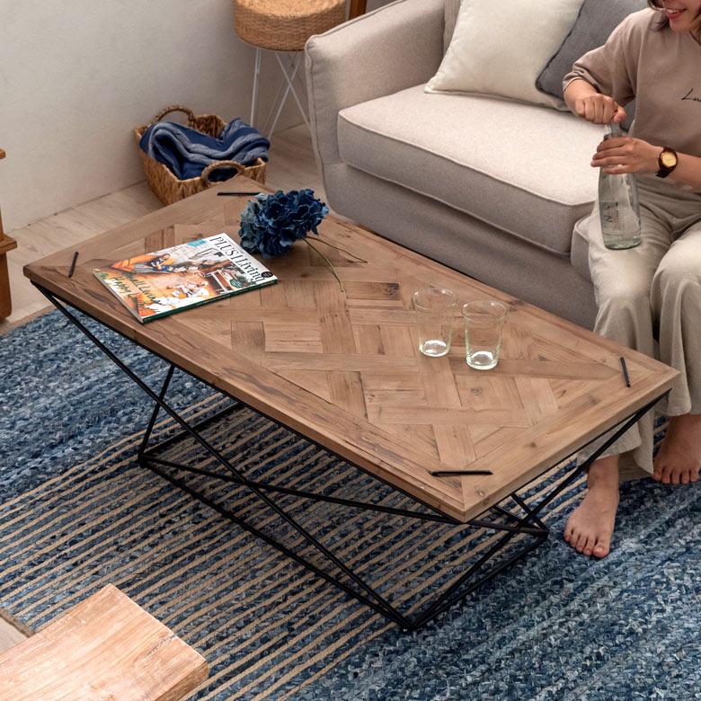 アイアンウッドのセンターテーブル