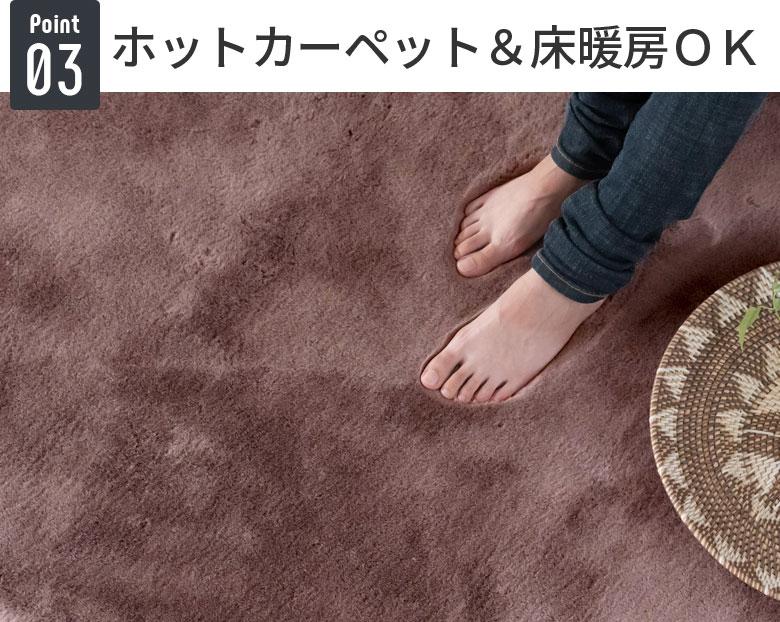 ホットカーペット&床暖房OK