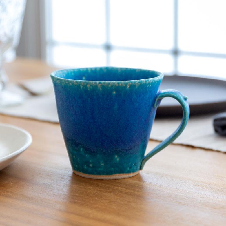 丸十製陶の信楽焼マグカップ