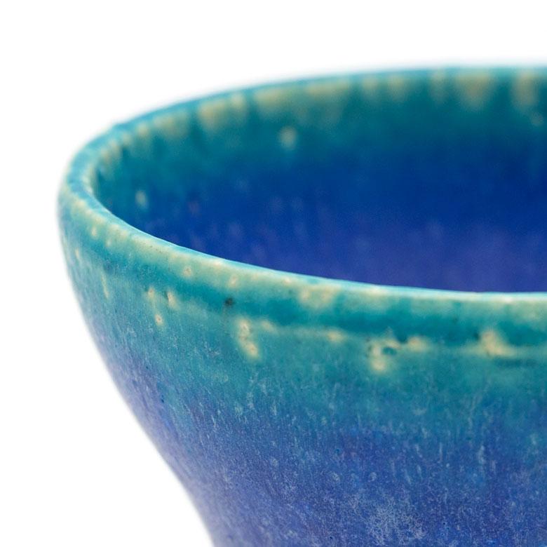 信楽焼のミニカップ、ブルー