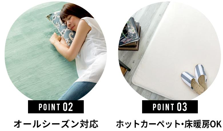 ホットカーペット・床暖房OK