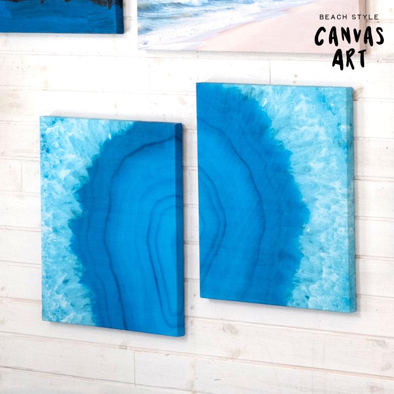 ブルーオーシャン  シーフォトグラフィック 壁掛けキャンバスアート。