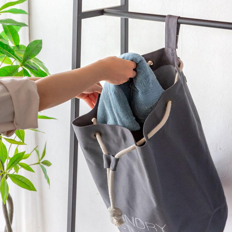 スペースの少ない脱衣所でも使いやすく便利