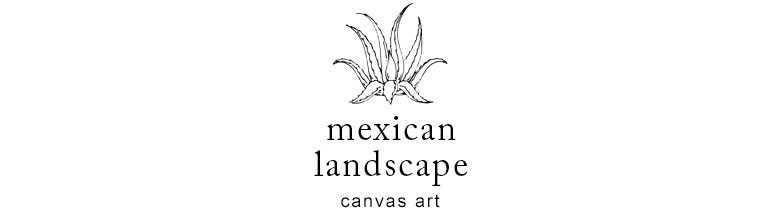 メキシコなどで見られる雄大な景色のアート