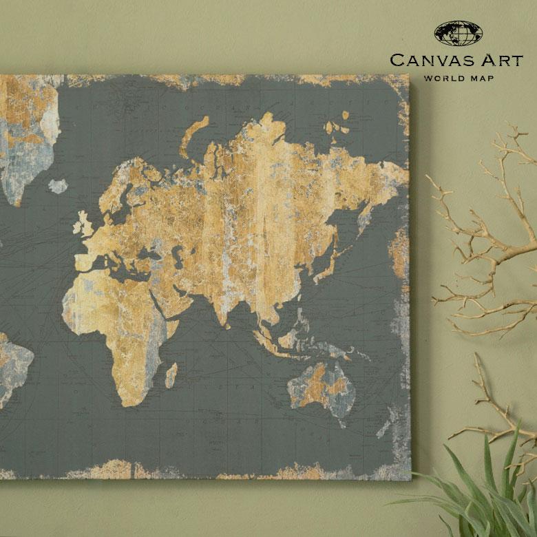 世界地図の壁掛けキャンバスアート