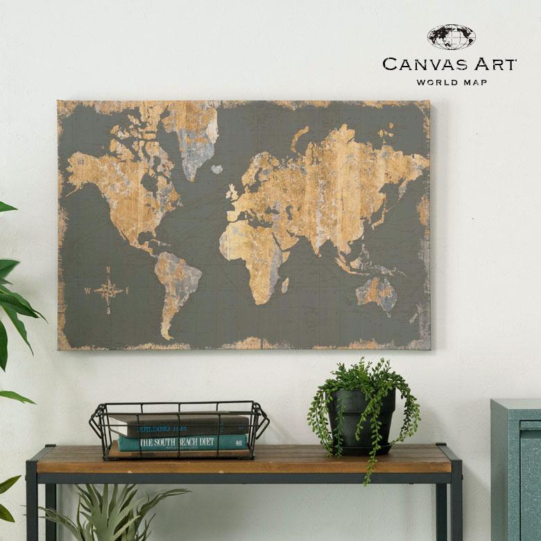 ワールドマップ。世界地図。壁掛けキャンバスアート。