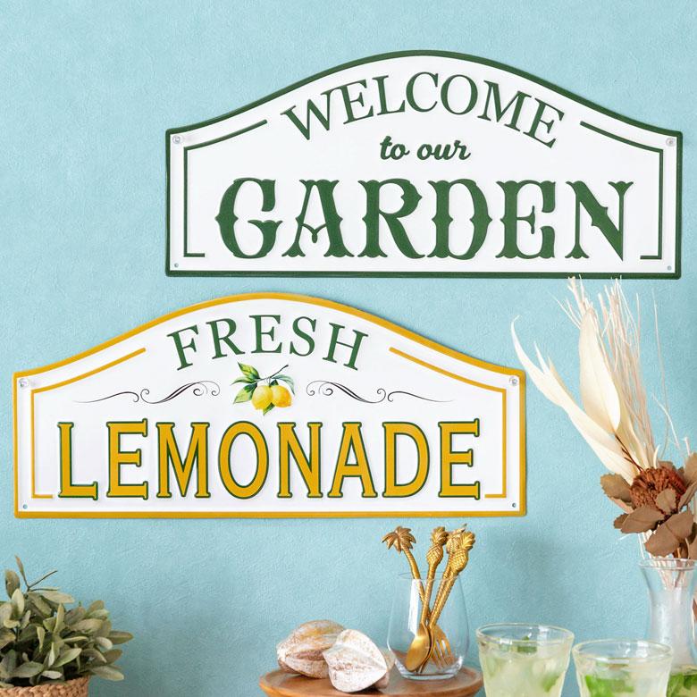 ガーデン。WELCOME OUR GARDEN。レモネード。LEMONDADE。