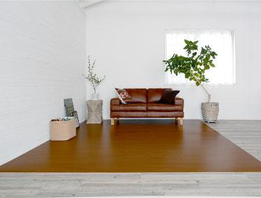 耐久性が高く、木材特有の反りや乾燥割れなどが少ない素材