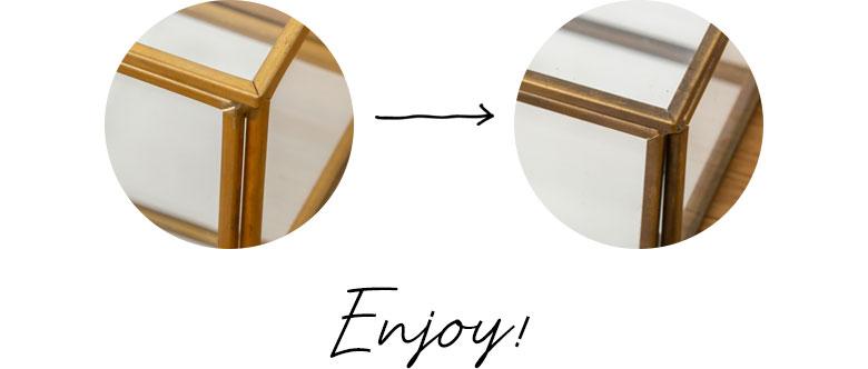 真鍮の経年変化をお楽しみください