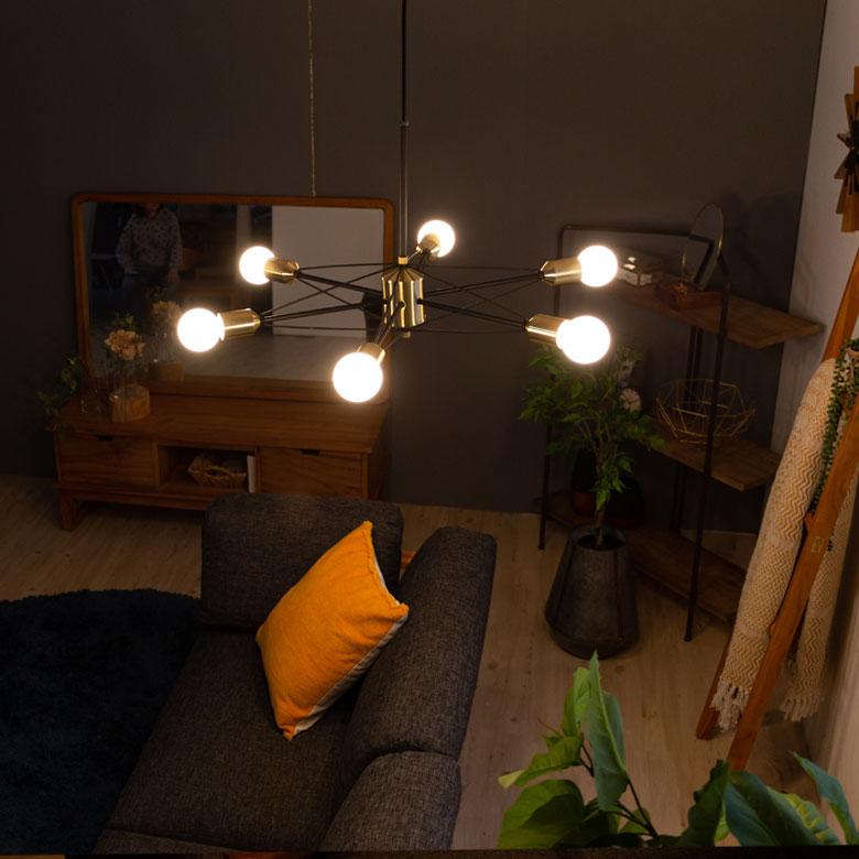 個性的な照明でお部屋の印象が変わります