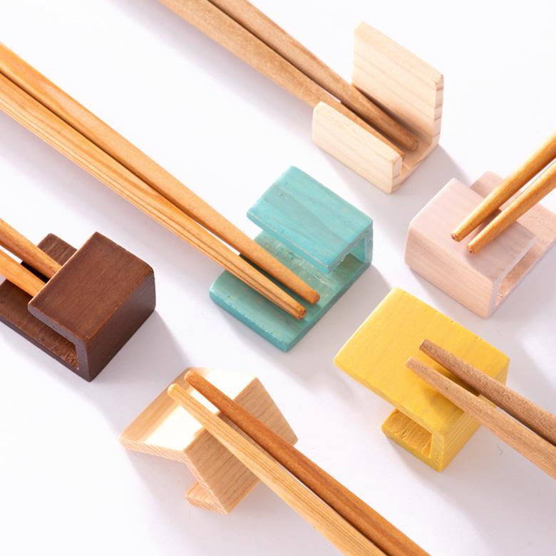 お箸と箸置きセット FLAT 2膳[全3色]