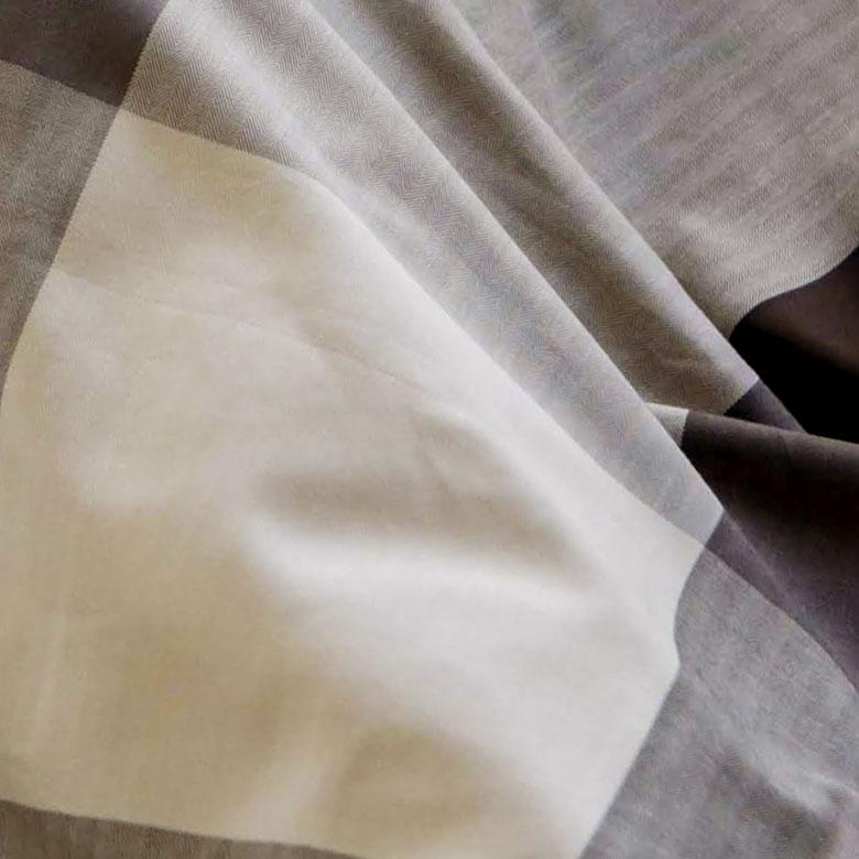 ブロックチェックのこたつ布団カバー 正方形