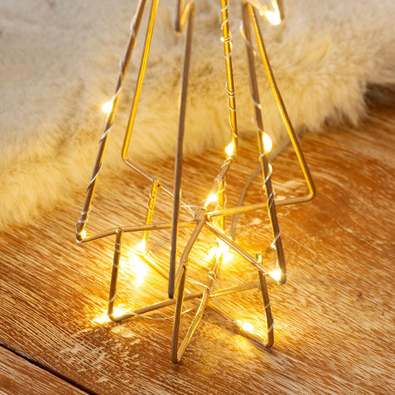 LEDライト デコレーション ワイヤー エッジツリー