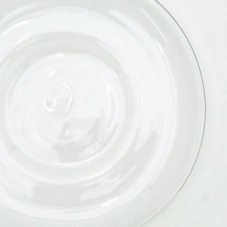 ガラスのティーカップ&ソーサーセット