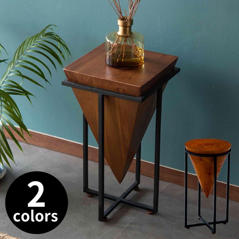 天然木モンキーポッドのサイドテーブル