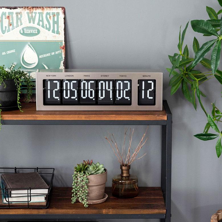 フリップ式 世界時計