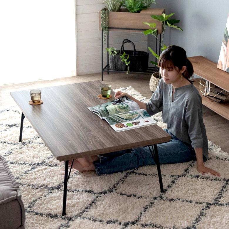 オールシーズン使えるこたつテーブル