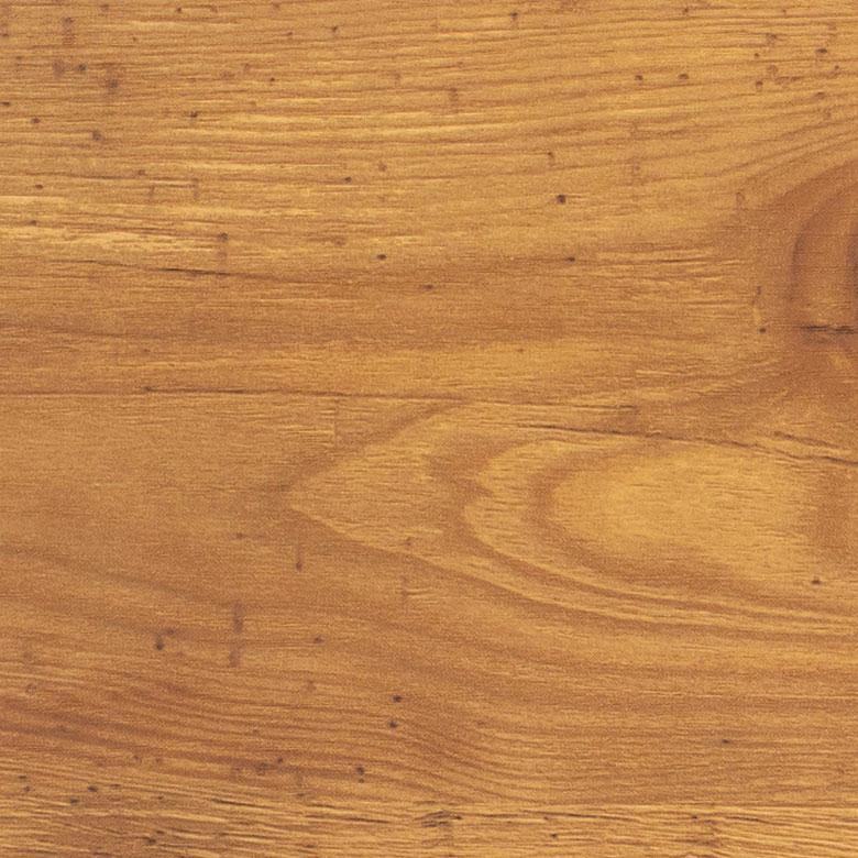 コンセント付き木目調のスリムなデスク