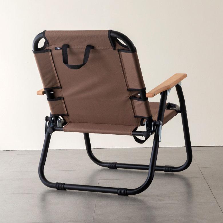 コンパクトなのに、快適な座り心地 フォールディングチェア 1人掛け