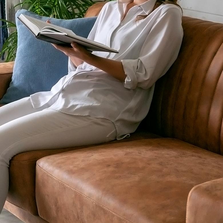 ポケットコイルを使用し、フィット感のある座り心地