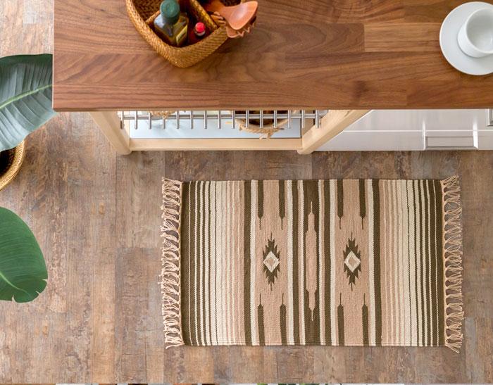 エスニック ネイティブ 西海岸 ビーチハウス コットンキリム トイレマット 玄関マット キッチンマット 洗面所 50x80