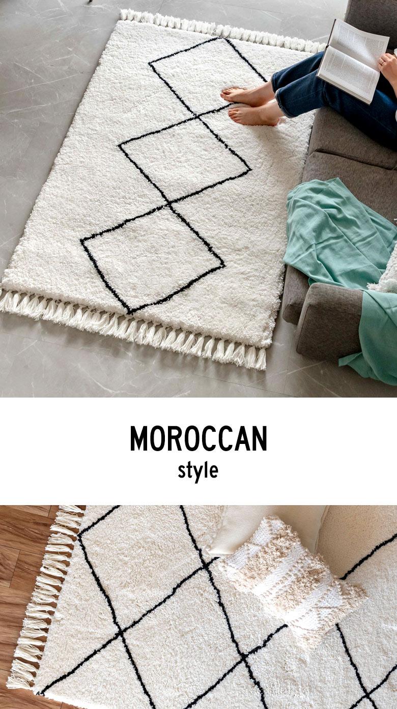 モロッカンラグマット 100×140cm