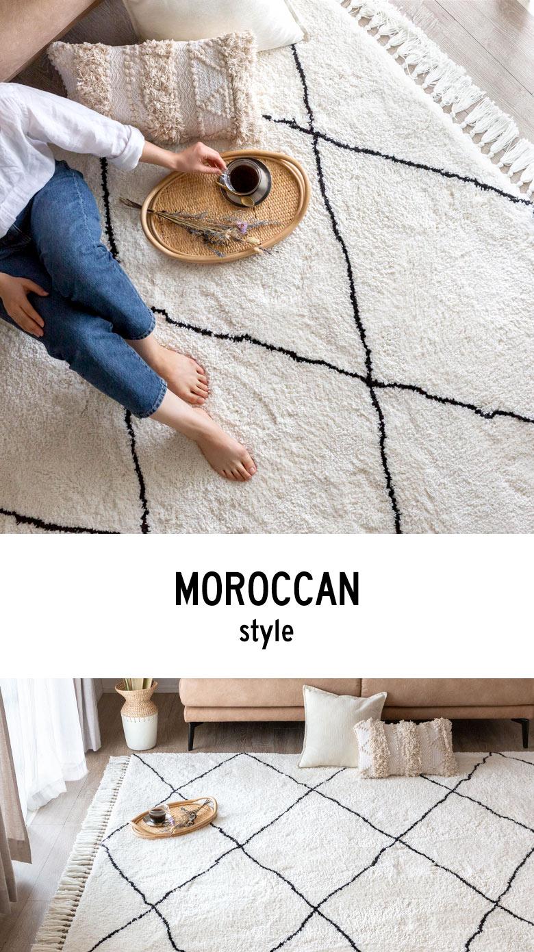 モロッカンラグマット 185×185cm
